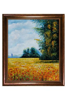 Claude Monet Champ D'Avoine (Oat Fields), Oil On Canvas