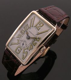 A 9ct gold rectangular vintage Hermes watch, 1930s