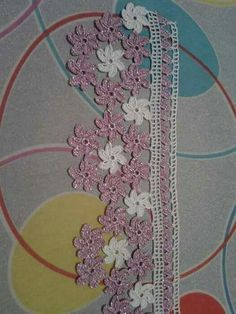 Crochet Lace, Diy And Crafts, Crochet Necklace, Create, Pink, Crochet Flower Patterns, Crochet Edgings, Hand Embroidery, Ornaments