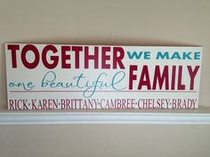 Blended Family Wood Sign by ScrapCrazyDesigns on Etsy, $70.00