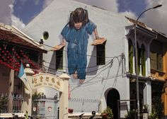 By Ernest Zacharevic in Penang, Malaysia.