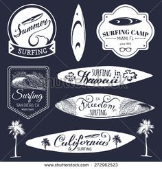 vintage surf logos - Google Search