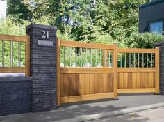Portail design bois