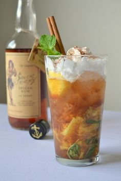 Pineapple Cinnamon Mojito - A tropical winter drink that will definitely keep your tummy warm!