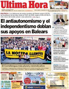 Los Titulares y Portadas de Noticias Destacadas Españolas del 5 de Mayo de 2013 del Diario Ultima Hora ¿Que le parecio esta Portada de este Diario Español?