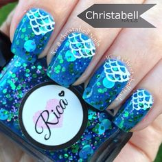 christabellnails Here's my favourite from @Justricarda's Ocean Breathes Collection called Mermaid For Each Other.