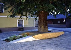 Bench/planter in village Square, Zweinitz, Austria by Söhne & Partner. Click image for full project and visit the slowottawa.ca boards >> http://www.pinterest.com/slowottawa/