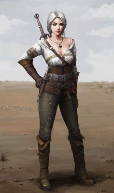 The Witcher 3 Cirael The Witcher Books, The Witcher Game, The Witcher Geralt, Witcher Art, Dark Fantasy Art, Fantasy Girl, Fantasy Inspiration, Character Inspiration, Character Portraits