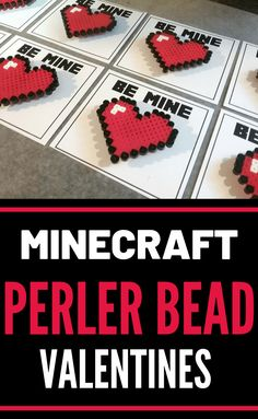 Minecraft Perler Bead Valentines are so easy to make. Plus the Perler Bead sprite is a magnet so kids can have a forever treasure from the gift. Perler Beads, Perler Bead Art, Fuse Beads, Valentines Day Book, Valentines Day Cards Handmade, Valentine Day Crafts, Crayon Crafts, Melty Bead Patterns, Hama Beads Minecraft