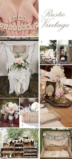 Vintage Rustic Wedding Ideas and Decorations For Sale