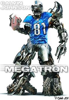 Calvin Johnson set the record for most receiving yards, moving ahead of Jerry Rice But Football, Detroit Lions Football, Football Trophies, Detroit Sports, Football Season, American Football, Football Players, Football Names, Football Humor