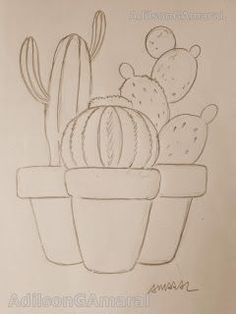 Cactus Drawing, Cactus Painting, Cactus Art, Cactus Plants, Garden Plants, Diy Embroidery, Embroidery Patterns, Mini Canvas Art, String Art