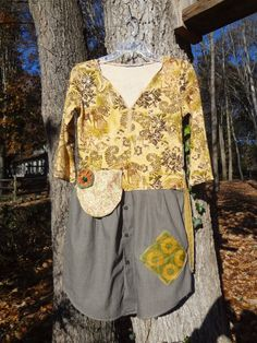 Small/Med Size Artsy Dress Tunic / Upcycled Clothing by UpCdooZ / Eco Clothing