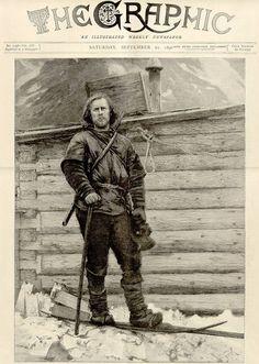 Fridtjof Nansen, Norwegian Explorer of the Arctic. Robert Peary, Roald Amundsen, Heroic Age, Archaeological Discoveries, Trondheim, Greatest Adventure, Old Postcards, Dracula, Vintage Photography