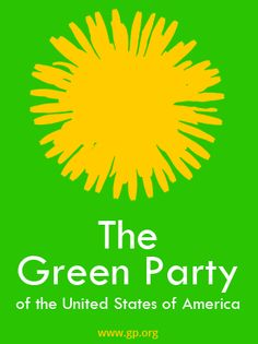 A logo I mocked up in support of The Green Party, who I align myself in many ways. Much more than either side of the two-party system, here, in the US.
