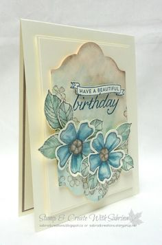 Stamp & Create With Sabrina: Birthday Blossoms - GDP #037 - Colour Challenge