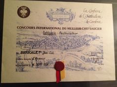 Consultant restauration - Jean-Luc Buscyalet au concours national du meilleur chef saucier de France