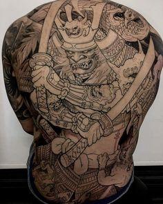 Japanese Leg Tattoo, Japanese Tattoo Designs, Samurai Mask Tattoo, Yakuza Tattoo, Asian Tattoos, Dope Tattoos, Body Art Tattoos, Shogun Tattoo, Tatoo Art