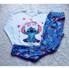 Peau Tutorial and Ideas Cute Pajama Sets, Cute Pjs, Cute Pajamas, Cute Disney Outfits, Cute Lazy Outfits, Pijama Disney, Stitch Pajamas, Lelo And Stitch, Jugend Mode Outfits