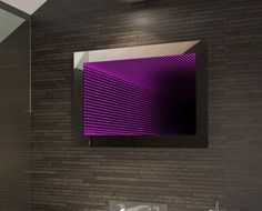 Infinity Mirrors - The UK's finest LED Illuminated Mirrors Led Infinity Mirror, Modern Mirror Design, Illuminated Mirrors, Light Installation, Light Art, Light Decorations, Wall Lights, Purple, Sim