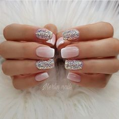 Try some of these designs and give your nails a quick makeover, gallery of unique nail art designs for any season. The best images and creative ideas for your nails. Frensh Nails, Nude Nails, Manicures, Hair And Nails, Gel Ombre Nails, Matte Gel Nails, Acrylic Nails Coffin Glitter, Pastel Nails, Art Nails