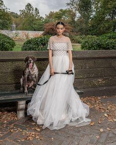 Strapless Tull Ballgown with embroidered bodice and belt #RALovefromNY #ReemAcra #ReemAcraWedding #Wedding #Bride #Bridal #WeddingDress