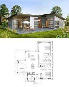 Casita Plan  Small Modern House Plan   House plans   Pinterest     This plan includes my changes  Original at the link  1948sf
