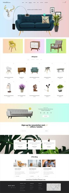 Speed is clean and modern minimal design #PSD template for stunning #furniture shop eCommerce #website with 16 niche homepage layouts and 48 layered PSD pages to live preview & download click on Visit