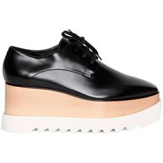 STELLA MCCARTNEY 'Felik Elyse' leather brogues (695 CHF) ❤ liked on Polyvore featuring shoes, oxfords, leather shoes, balmoral shoes, brogue shoes, genuine leather shoes and brogue oxford