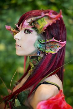 Photo by Anna Fischer, from PAX East. Looks a little bit like the Sylvari from Guild Wars 2