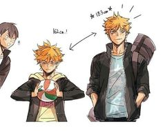 hinata would look like a completely new person if he was tall