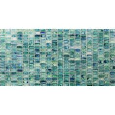 Splashback Tile Breeze Caribbean Ocean Stained Glass Mosaic Floor and Wall Tile - 3 in. x 6 in. Tile Sample