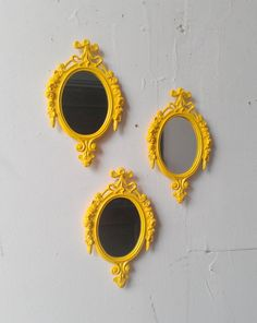 Vintage Mirror Set of Three in Matching by SecretWindowMirrors