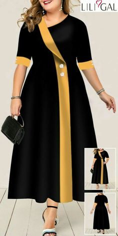 2019 Plus Size Sale slechts voor 1 week! Long African Dresses, Latest African Fashion Dresses, Women's Fashion Dresses, Trendy Dresses, Women's Dresses, Dresses For Work, Curvy Dress, African Attire, Classy Dress