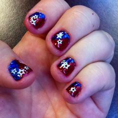 Fourth of July nail art!