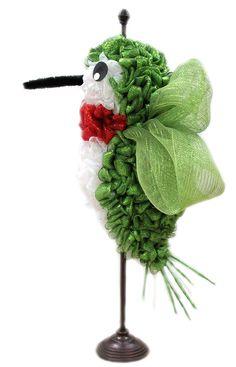 Deco Mesh Hummingbird designed by Karen B., A.C. Moore Erie, PA #decomesh