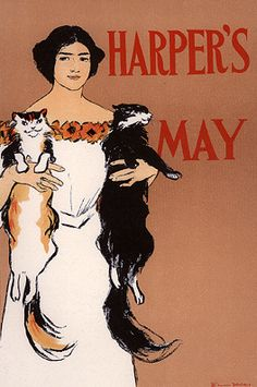 By Edward Penfield (1866-1922), Harper's May. Printed by Imprimerie Chaix, Paris, 1 8 9 8. (American)