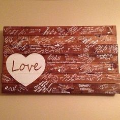 Instead of a guest book! Neat way to be able To display in home forever