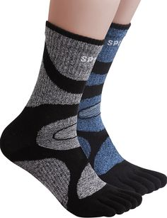 HASLRA Hiking Five Fingers Toe Socks 2 Pairs ** This is an Amazon Affiliate link. Click image to review more details.