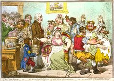 An poster sized print, approx mm) (other products available) - CARTOON: VACCINATION, <br>& Cow-Pock.& Satirical etching, by James Gillray on Edward Jenner and vaccination. - Image supplied by Granger Art on Demand - poster sized print mm) made in the UK Caricatures, Barbados, James Gillray, Wakefield, True Health, Archaeology News, Manado, Founding Fathers, Vacation Places