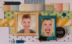 Crate Paper - Boys Rule! - In my world - Scrapbooking our journey