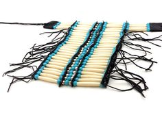 Made from authentic buffalo bone hairpipe beads. Handmade in Los Angeles, California USA. Gift Wrapper, Plains Indians, Indian Crafts, Bead Store, West Indian, Chocker, Conch, Craft Items, Buffalo