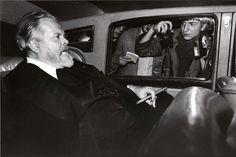 Orson Welles, hôtel Lancaster, Paris, le 28 février 1982 © Bruno Mouron