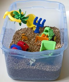 Diggers & Dumpers sensory box...cool toddler boy gift