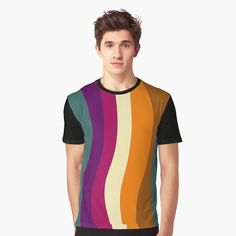 My T Shirt, Vivid Colors, Chiffon Tops, Female Models, Graphic Design, Abstract, Mens Tops, How To Wear, Fashion Design