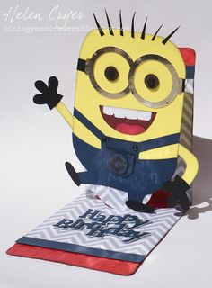This makes me happy! The Dining Room Drawers: Sizzix Pop 'n Cuts Minion Card!