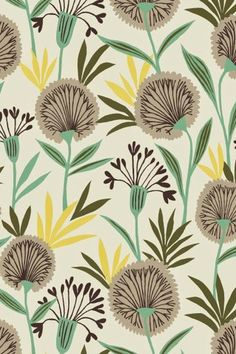 Suffolk Garden by Brie Harrison from Dashwood Studio Fabrics Textile Patterns, Print Patterns, Textile Design, Textile Prints, Color Patterns, Lino Prints, Floral Patterns, Block Prints, Surface Pattern Design