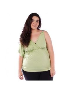 Plus Size Lime One Sleeve Top