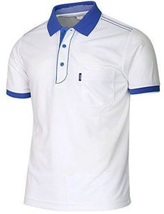BCPOLO Mens Polo Shirt Short Sleeve Dri Fit Golf Athletic stitchCasual Coolmax Solid Black Yellow Green Scarlet Blue Polo shirt - Men Polo Shirts - Ideas of Men Polo Shirts Mens Polo T Shirts, Blue Polo Shirts, Polo Shirt White, Short Sleeve Polo Shirts, Shirt Men, Camisa Polo, Polo Shirt Design, Workout Shirts, Shirt Style