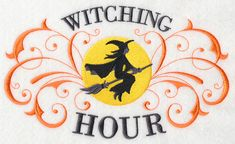 Witching Hour with Filigree design (K3247) from www.Emblibrary.com